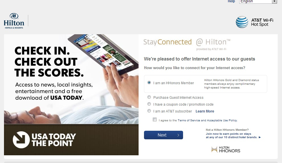 Hilton wifi coupon code